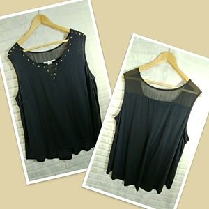 American Rag black top with gold accents